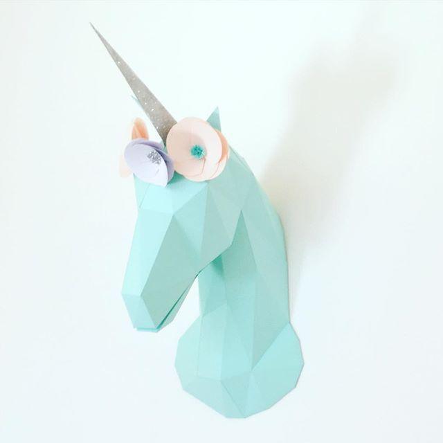 Unicorn Paper Trophy