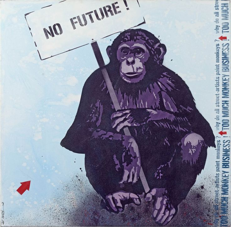 JEF AEROSOL - NO FUTURE - DAVID PLUSKWA ART CONTEMPORAIN http://www.widewalls.ch/artwork/jef-aerosol/no-future/ #Aerosol