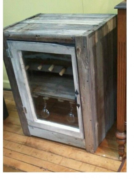 Rustic Wine Fridge Cooler Backyard Inspiration