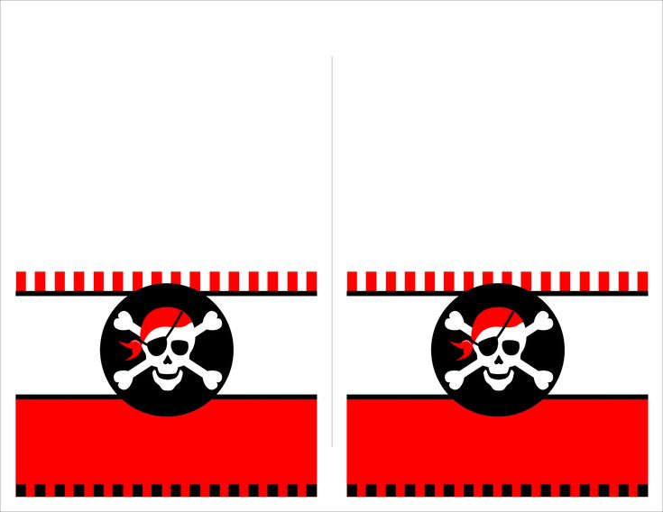 pirate party free printable food cards