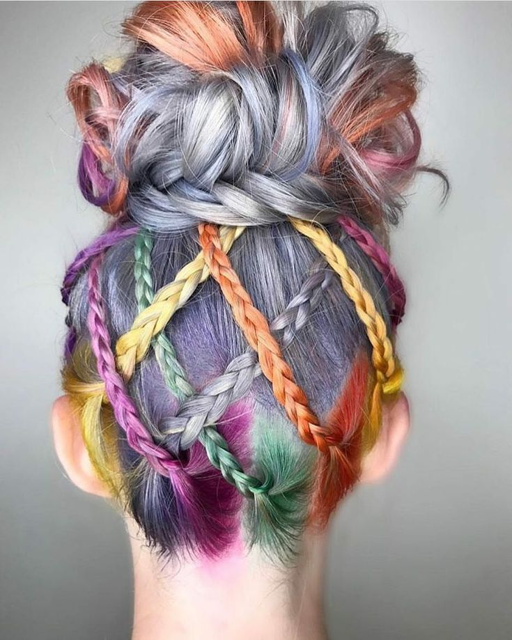 Beauty: Fantasy Unicorn Purple Violet Red Cherry Pink yellow Bright Hair Colour Color Coloured Colored Fire Style curls haircut lilac lavender short long mermaid blue green teal orange hippy boho ombré woman lady pretty selfie style fade makeup grey white silver trend trending multi confetti braids braid plaits upstyle Pulp Riot