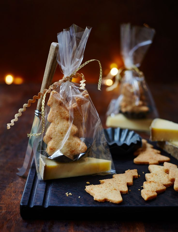 We're a little obsessed with these parmesan shortbreads shaped like Christmas trees. We reckon they'd make great gifts if we don't gobble them up first...