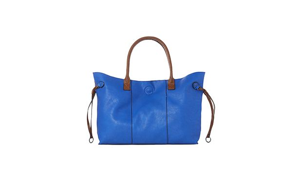 "Blue Shopper Bag. ""A bright blue bag makes a statement and this tote is the perfect size for everyday essentials."""