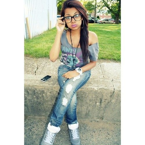 83 best images about on pinterest follow me girl swag and lauren london - Mixed girl swag ...
