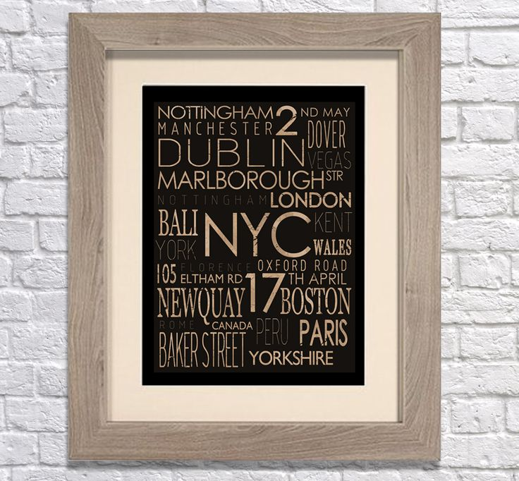 Personalised rustic word art canvasl. You can personalise this print and even choose your own colour to match your walls at home! www.monkeyofthenorth.co.uk
