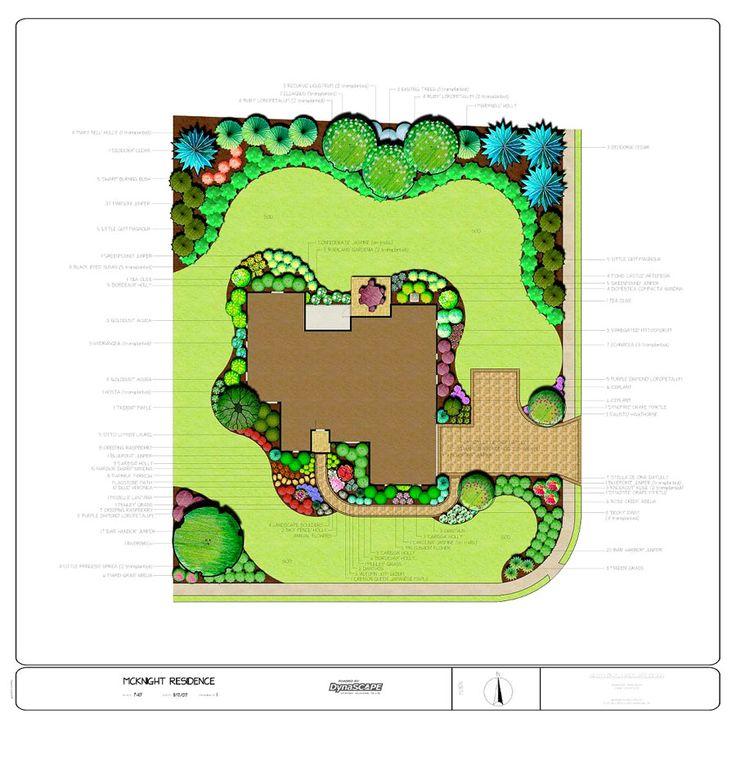 Corner lot landscape plan landscape pinterest for Corner lot landscape designs