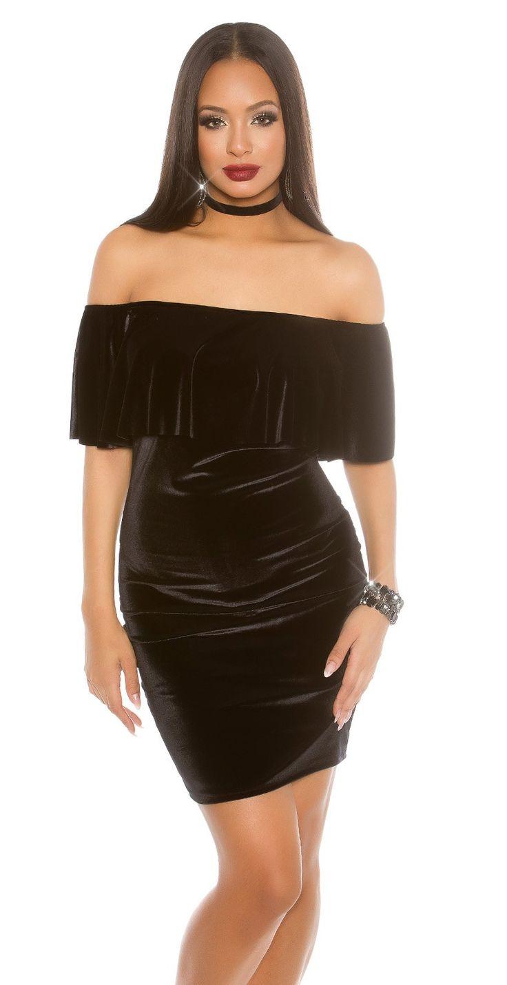 Černé semišové šaty