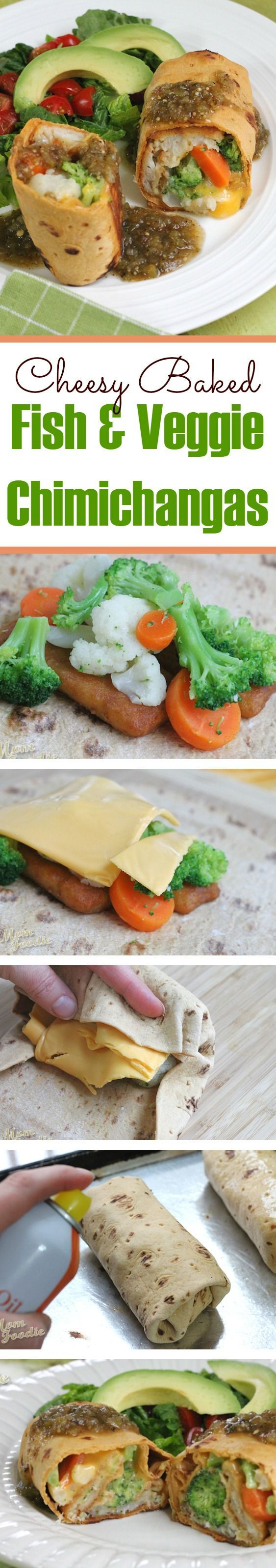 130 best easy dinner recipes images on pinterest chicken recipes easy cheesy fish veggie chimichangas forumfinder Image collections