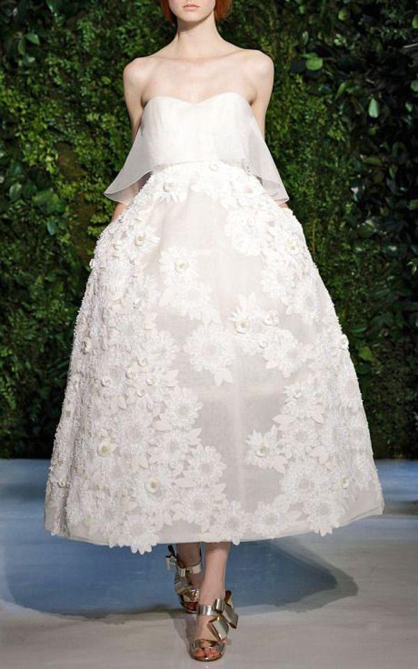 Haute Couture tea length wedding dress | The Wedding Scoop Spotlight: Short Wedding Dresses