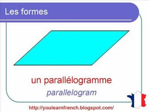 French Lesson 114 - Shapes Vocabulary square rectangle triangle circle...- Les formes
