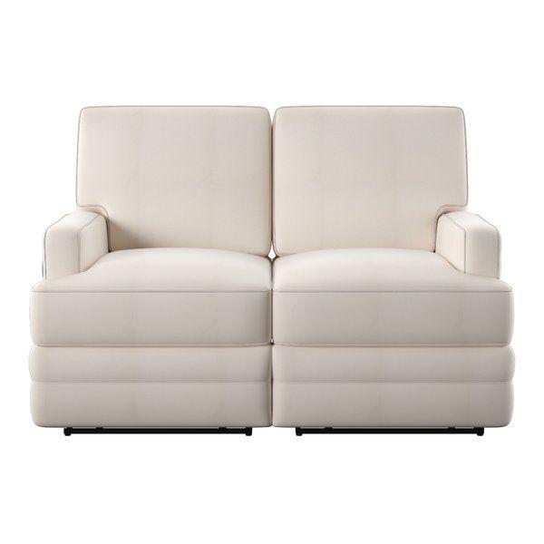 Kaiya 59 Square Arm Reclining Loveseat Love Seat Recliner Loveseats For Small Spaces Reclining loveseats for small spaces