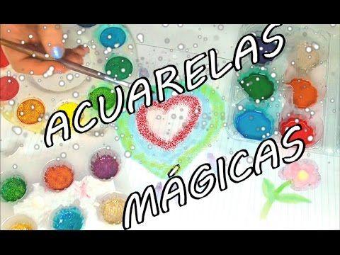 ACUARELAS MÁGICAS CASERAS PARA NIÑOS - YouTube