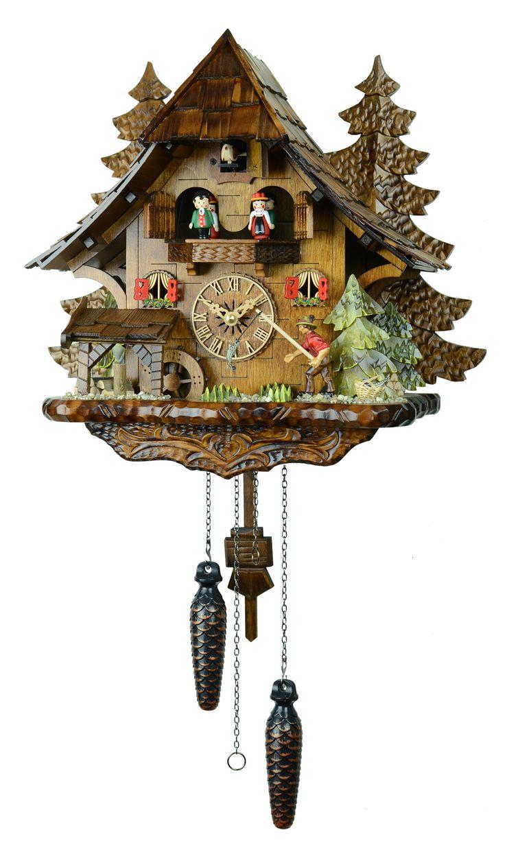 森の時計のカラクリ鳩時計 :: 木こりの休憩 :: クォーツ式鳩時計 山小屋木こりの休憩 4739QMT - 鳩時計専門店 森の時計   ハト時計   販売   通販   修理   東京   ドイツ   スイス
