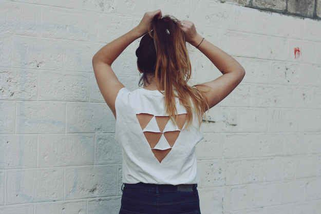 Triangle Back Top