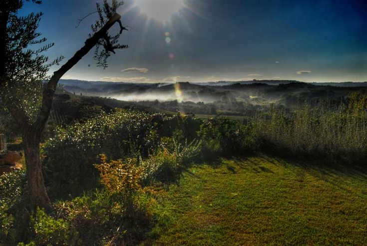 one of those unusual views of Tuscany