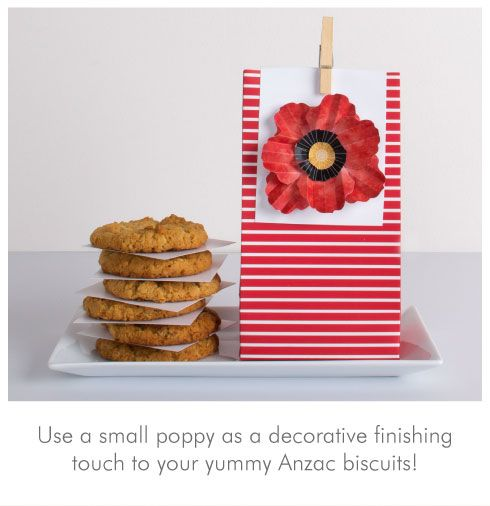 ANZEC Biscuits!  I love them.  Printable poppy craft & recipe