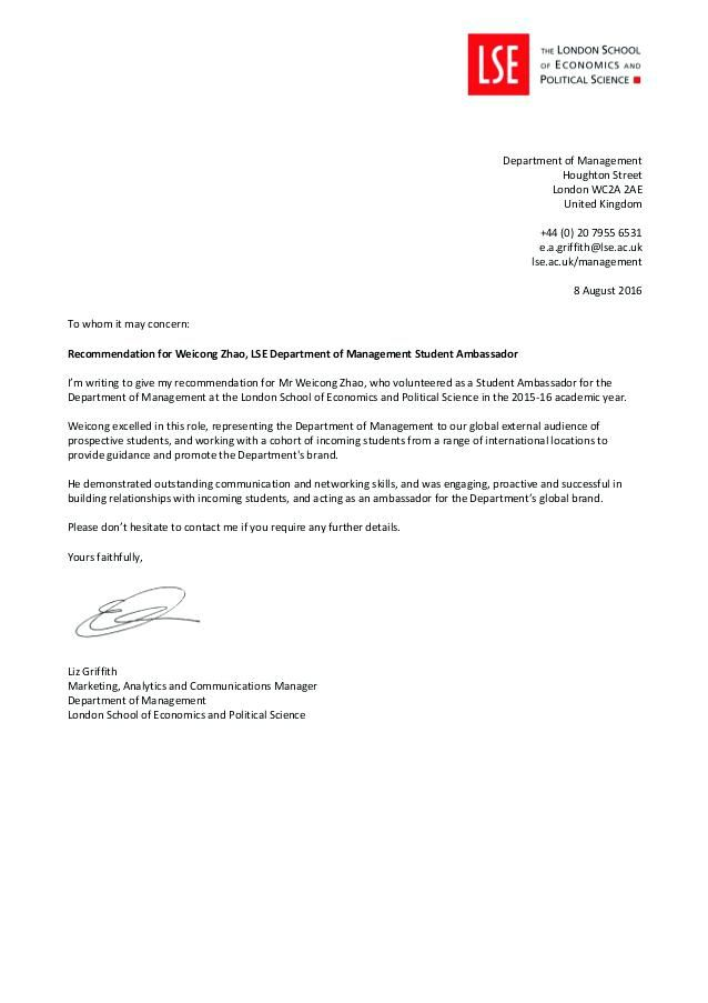 Recommendation Letter To Whom It May Concern Sample from i.pinimg.com