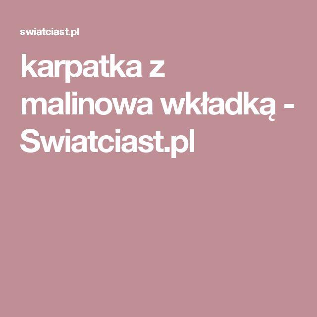 karpatka z malinowa wkładką       -         Swiatciast.pl