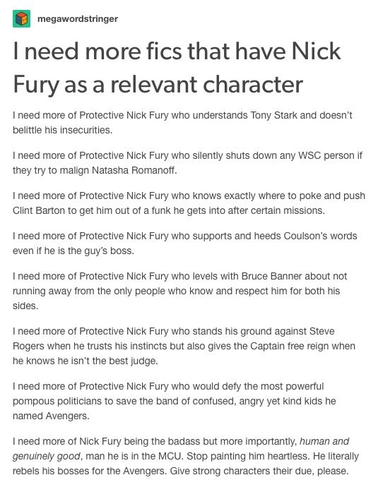 nick fury + headcanons (independent of white faves) part 1/2 // nick fury marvel mcu avengers natasha romanoff clint barton hawkeye laura barton maria hill phil coulson agents of shield