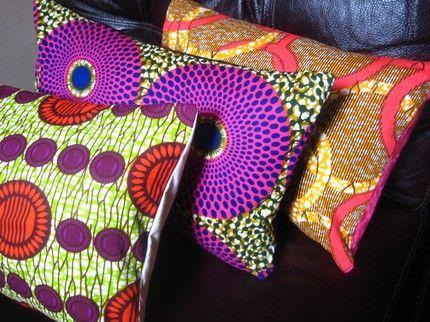 #kussens van #batik voor op de bank. #Kleurrijk!