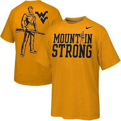 Nike West Virginia Mountaineers Mountain Strong Fan T