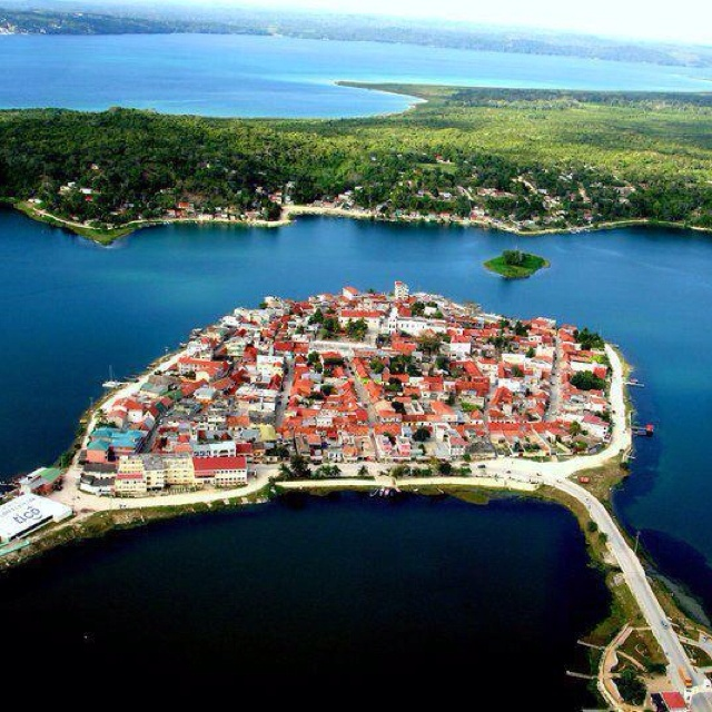 Flores-Peten, Guatemala. A gateway town to Tikal temple ruins. Where we will be staying during our visit