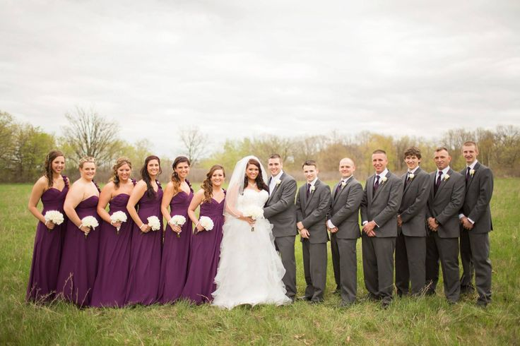 Purple Grey Wedding Party Weddingcolors Weddingparty