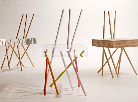 Stick Chairs By Tokyo Based, French Designer Emmanuelle Moureaux