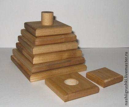 Vzdělávací hračky ruční práce.  Fair Masters - ruční.  Kupte Pyramid bříza.  Ruční výroba.  Pyramid, ruční hračky