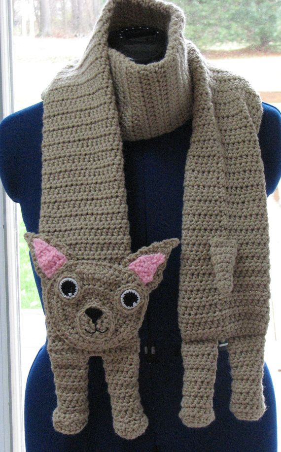 Made to Order Crochet Chihuahua Scarf by DonnasCrochetDesigns, $45.00