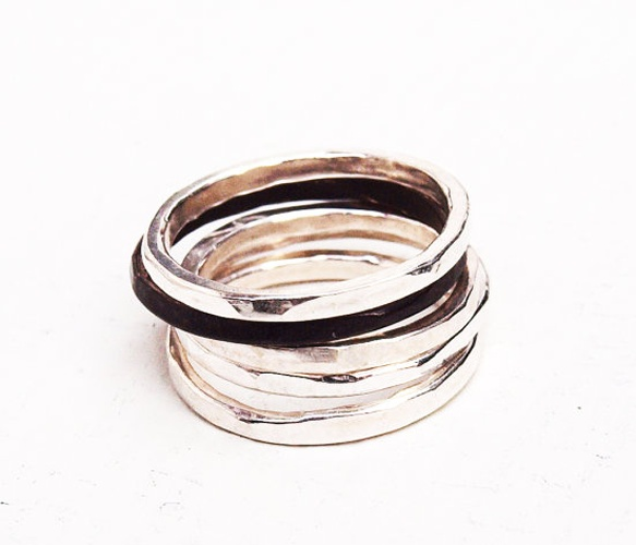 Stacking Rings: Delight Accessories, Shiny Things, Thin Stacking, Organizations Thin, Jewelry Bracelets, Girly Things, Stacking Bracelets, Stacking Rings, Silver Organizations