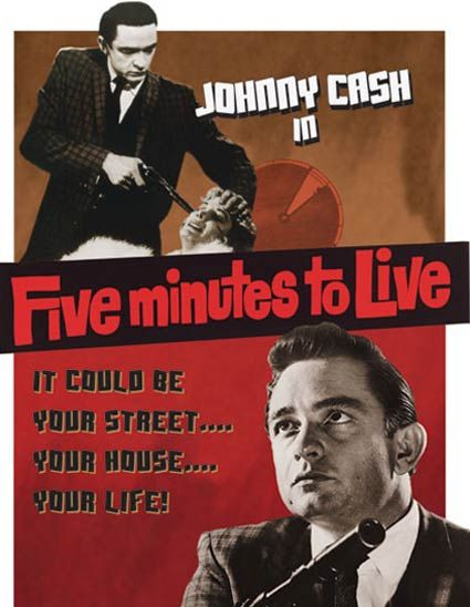 Johnny Cash as a Menacing, Musical Gangster in 1961 Film Five Minutes to Live