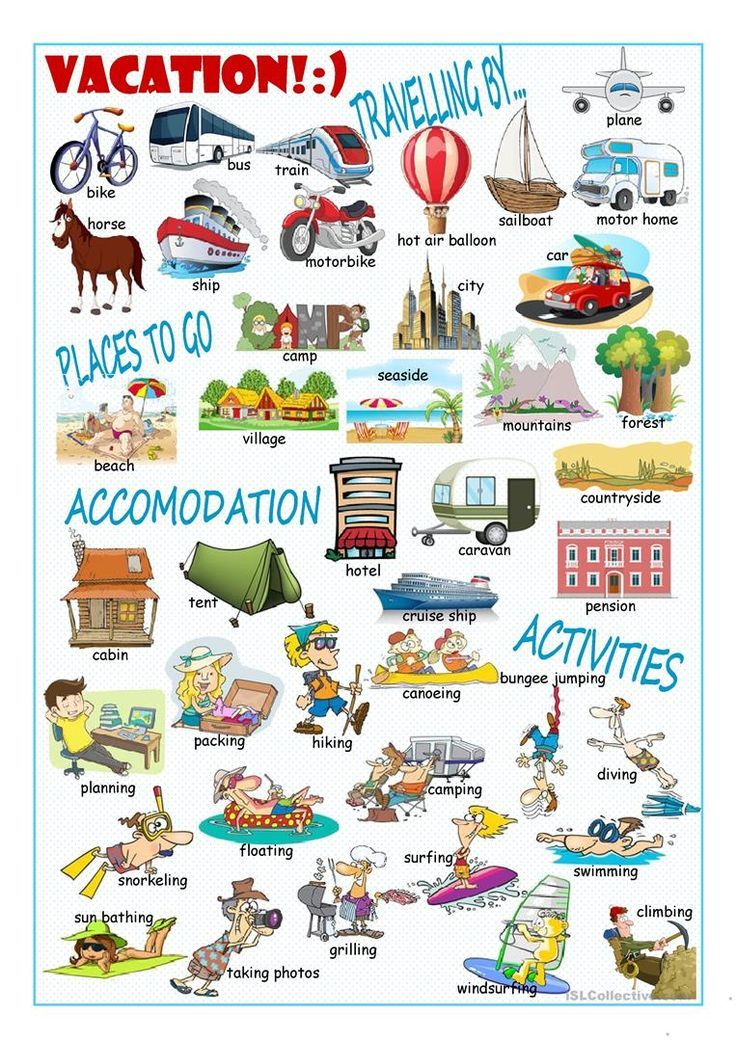 Vacation Picture Dictionary#1 worksheet - Free ESL printable worksheets made by teachers