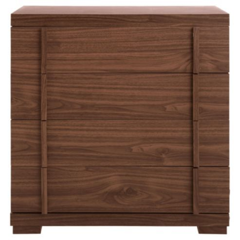 Buy brandon 4 drawer chest walnut effect from our chest of drawers range bedroom Tesco home bedroom furniture
