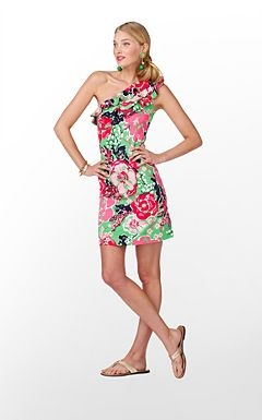Lilly Pulitzer - Whinnie: Lilly Dresses, Lilly Pulitzer, Pulitzer Dresses, One Shoulder Dresses, Whinni Dresses, Shower Dresses, Graduation Dresses, Cute Summer Dresses, Cups Dresses