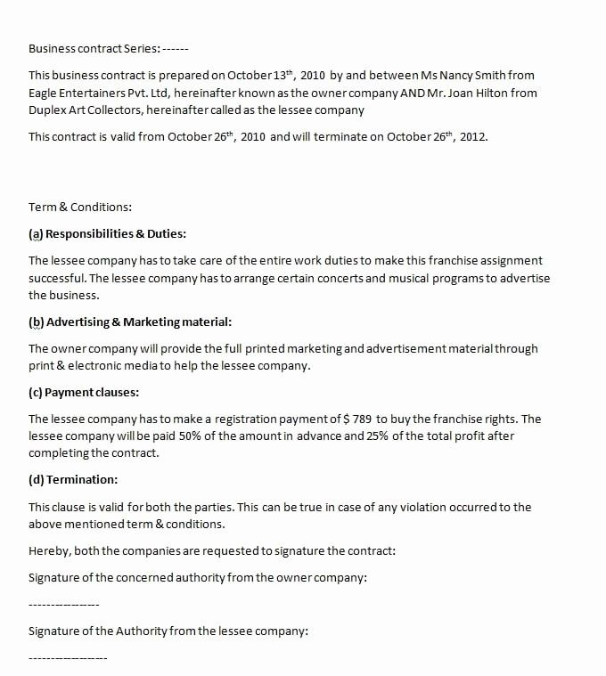 50 Awesome Sale Of Business Contract Template In 2020 Contract