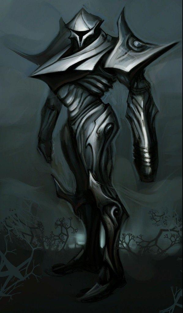 Metroid Prime 2 Armored Dark Samus concept art