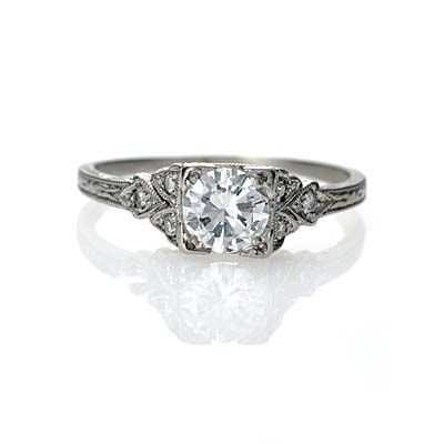 Art Deco Engagement Ring - Beautiful, unique, feminine.