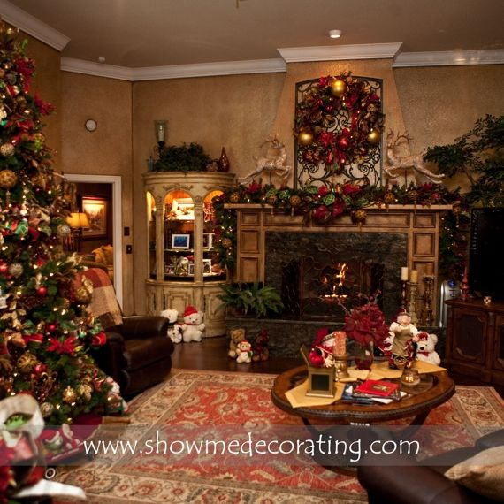 1000 Images About Christmas Hearths On Pinterest