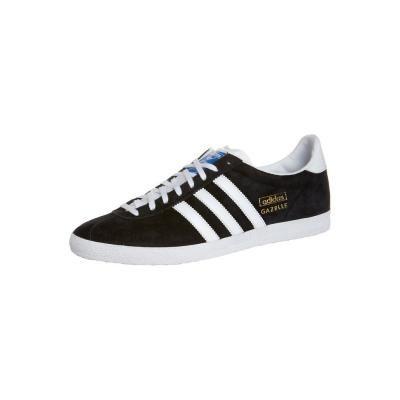 €92, Schwarze und weiße Wildleder Niedrige Sneakers von adidas Originals.  Online-Shop