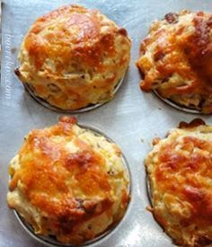 Bacon, kaas en mielie ontbyt muffins ~ Ontbyt iemand....... ??