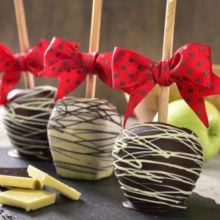 Manzanas Cubiertas con Chocolate