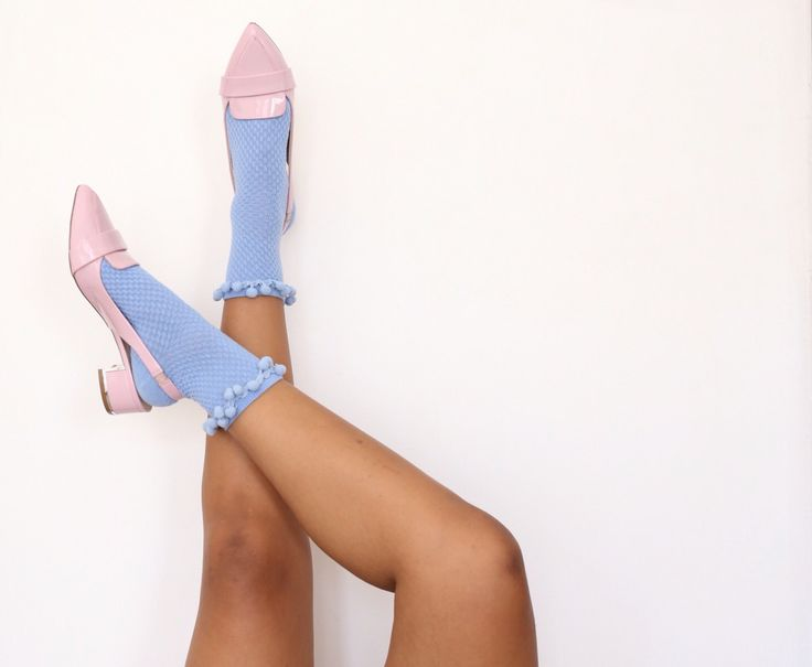 Socks and heels - wearing Charles & Keith shoes