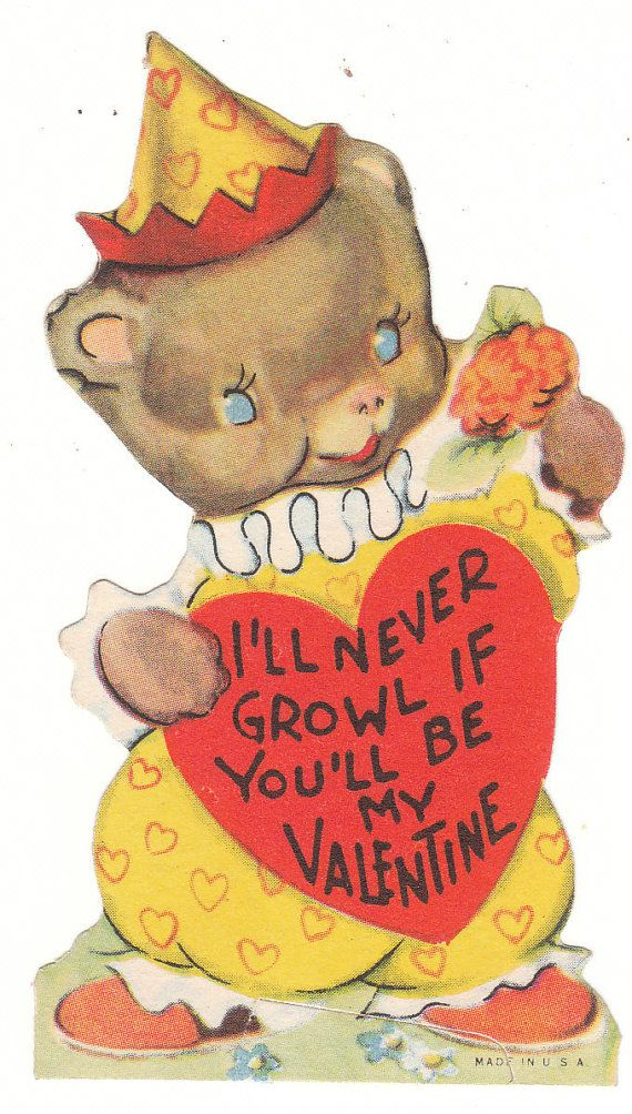 166 best images about Vintage valentine Cards Bears – Bear Valentines Card