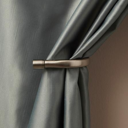 Mix and Match Collection Satin Steel Holdback Arms | Dunelm Mill