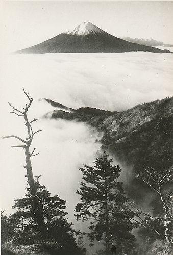 Mt. Fuji above the fog