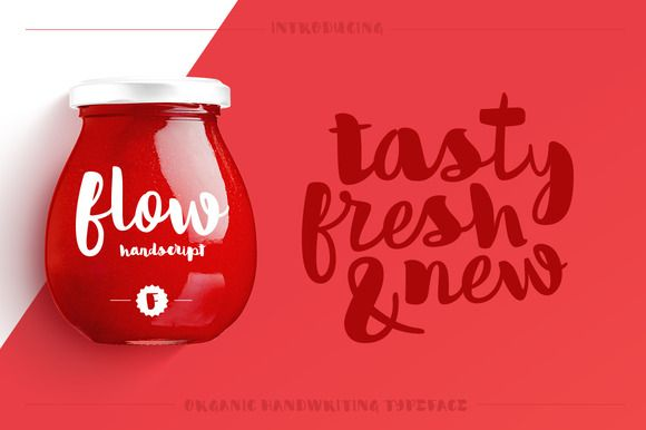 Flow Handscript /typeface by TanerArdali on Creative Market
