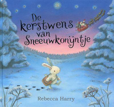 De #kerstwens van het sneeuwkonijntje. Sneeuwkonijntje wil graag een vriendje. Ze schrijft haar kerstwens op en gaat die persoonlijk afleveren bij de kerstman. Onderweg helpt ze een aantal dieren: ze geeft haar wanten aan een beer, haar koekjes aan een vos en wijst een verdwaalde groep reeën de weg. Vanaf 3 jaar.