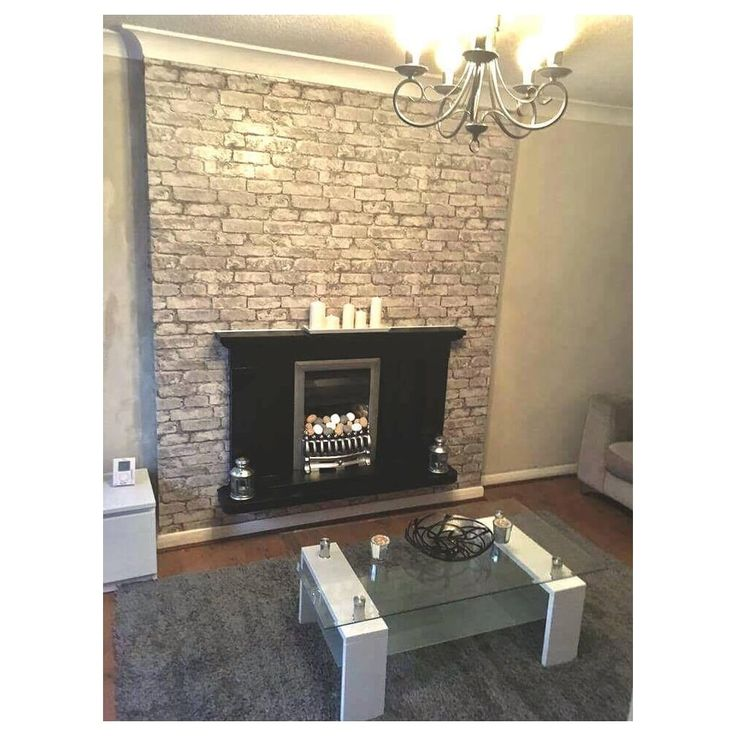 I Love Wallpaper Rustic Brick Wallpaper Silver, Grey (ILW980058) - Wallpaper from I Love Wallpaper UK
