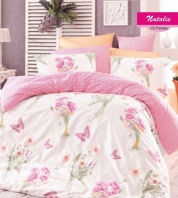 Розовое постельное белье для спальни девочки